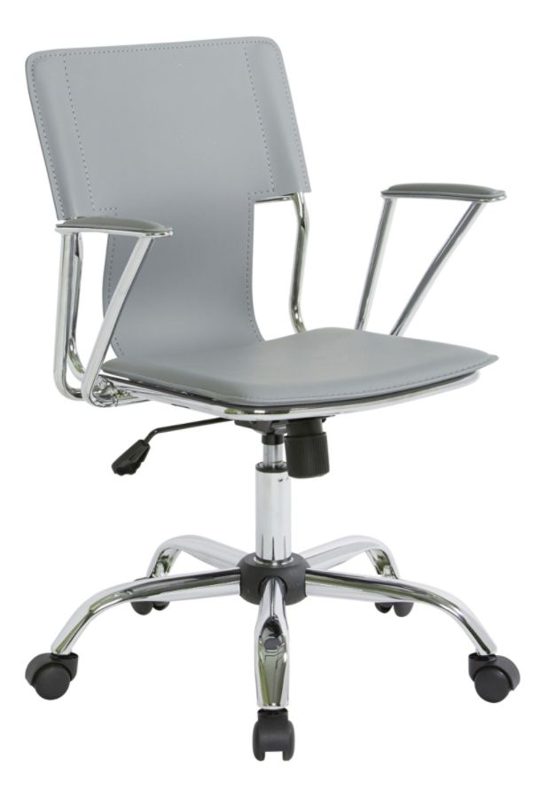 Miraculous Office Star Avenue Six Dorado Vinyl Office Chair Gray Chrome Ocoug Best Dining Table And Chair Ideas Images Ocougorg
