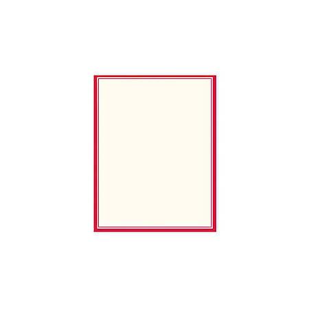 cc189e06286f Gartner Studios Design Paper 8 12 x 11 60 Lb Red Border Pack Of 100 ...