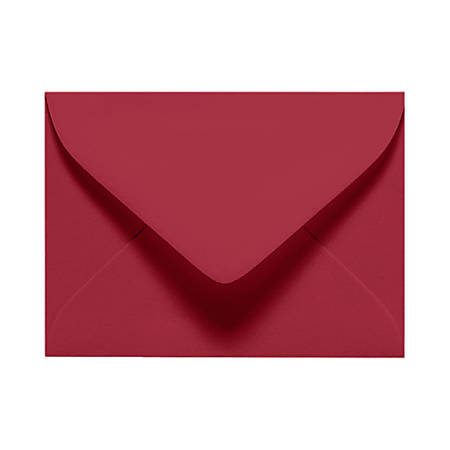 "LUX Mini Envelopes With Moisture Closure, #17, 2 11/16"" x 3 11/16"", Garnet Red, Pack Of 250"