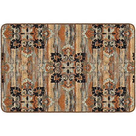 "Flagship Carpets Franklin Rectangular Rug, 48"" x 72"", Chocolate"
