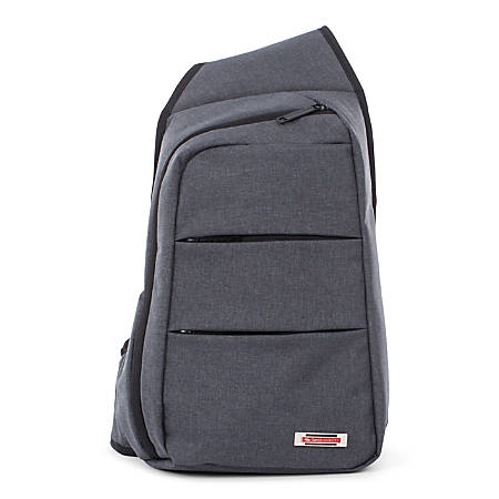 """Swiss Mobility Elevate Sling Backpack With 10"""" Tablet Pocket, Gray"""