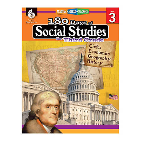 Shell Education 180 Days Of Social Studies, Grade 3