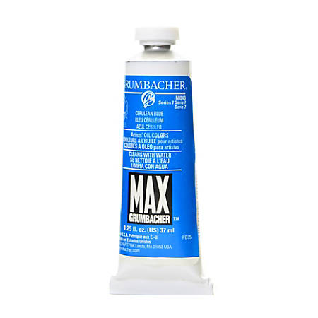 Grumbacher Max Water Miscible Oil Colors, 1.25 Oz, Cerulean Blue