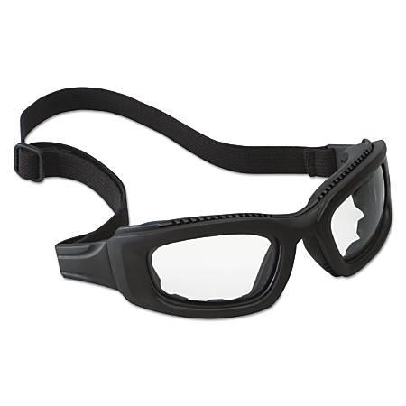 Maxim 2 x 2 Safety Eyewear, Clear Lens, Anti-Fog, Hard Coat, Black Frame, Rubber