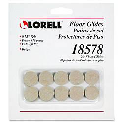 Lorell Self Stick Round Felt Floor