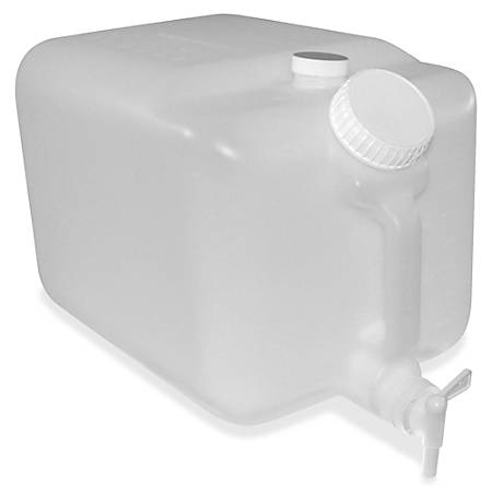 "E-Z Fill 5-gallon Container - External Dimensions: 16"" Length x 10"" Width x 9.5"" Height - 5 gal - Plastic - Translucent - For Chemical - 1 / Each"