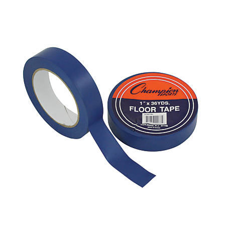 "Champion Sports Floor Tape, 1"" x 108', Blue"