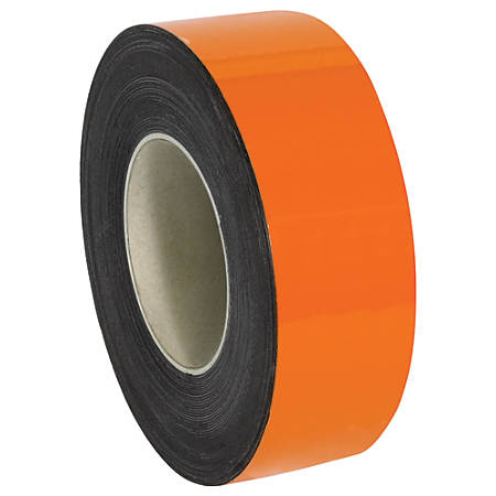 "Office Depot® Brand Magnetic Warehouse Label Roll, LH145, 2"" x 100', Orange"