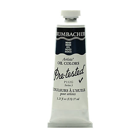 Grumbacher P112 Pre-Tested Artists' Oil Colors, 1.25 Oz, Indigo, Pack Of 2