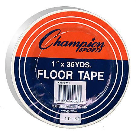 """Champion Sports Heavy-Gauge Vinyl Floor Marking Tape, 1"""" x 36 Yd., White"""