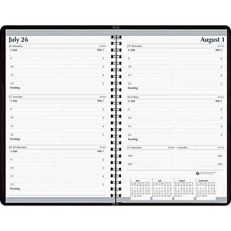 "SKILCRAFT® Weekly Appointment Planner, 5"" x 8"", 100% Recycled, Black/White, January to December 2019 (AbilityOne 7530-01-600-7610)"