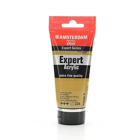 Amsterdam Expert Acrylic Paint Tubes, 75 mL, Raw Sienna, Pack Of 2