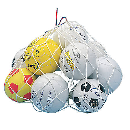 "Champion Sports Basketball Carry Net, 24"" x 36"", White"