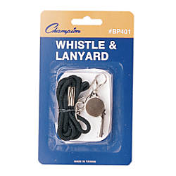 Champion Sports Metal Whistle And Lanyard