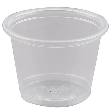 Fabrikal Plastic Portion Cups, 1 Oz, Clear, Pack Of 2,500