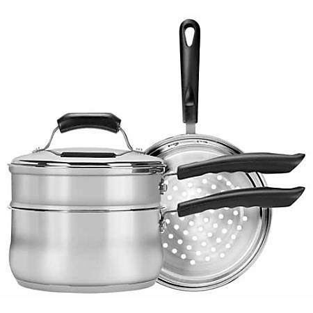Range Kleen CW2011 Steamer - Steamer, Boiler, 3 quart Saucepan, Lid - Stainless Steel - Dishwasher Safe - Oven Safe