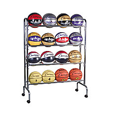 Champion Sports 16 Ball Basketball Rack