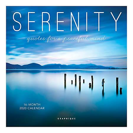 "Graphique De France Mini Wall Calendar, 7"" x 7"", FSC® Certified, Serenity, January to December 2020"