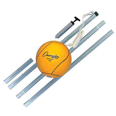 Champion Sports Deluxe Tetherball Set, Yellow