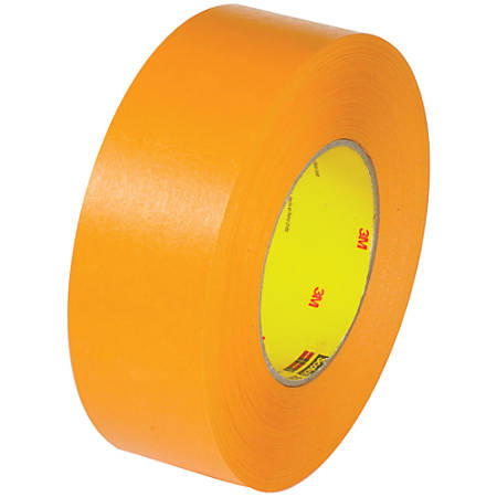 "3M™ 2525 Flat-Back Tape, 3"" Core, 1.5"" x 60 Yd., Orange, Pack Of 24"