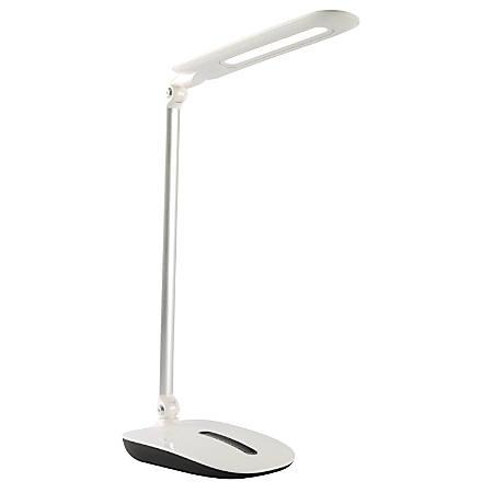 """OttLite® WorkWell® Slide LED Desk Lamp, 18-3/4""""H, White Shade/White Base"""