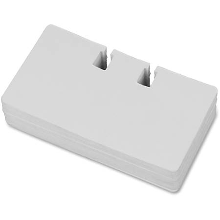 """Lorell Desktop Rotary Card File Refill - For 4"""" x 2.50"""" Size Card - White"""