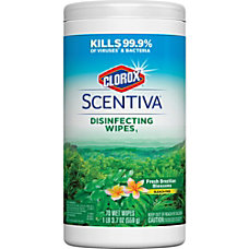 Clorox Scentiva Disinfecting Wipes Fresh Brazilian