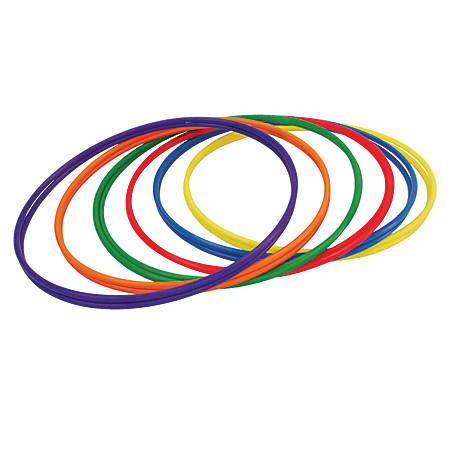 """Champion Sports Plastic Hoops, 30"""", Assorted Colors, Pack Of 12"""