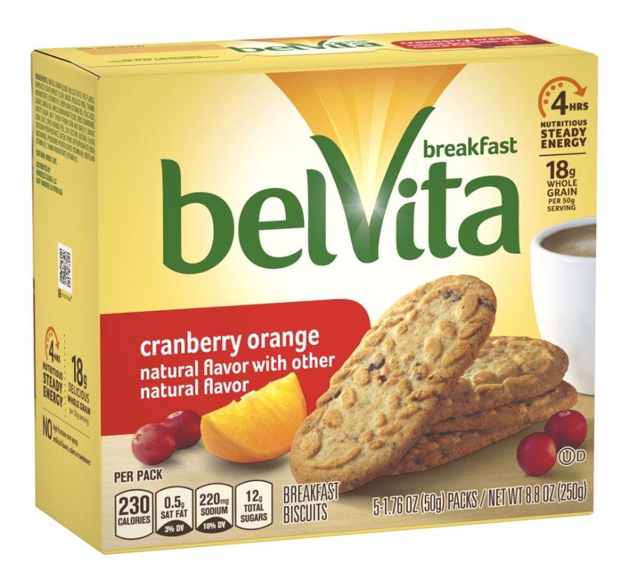 belVita Breakfast Biscuits Cranberry Orange 1.76 Oz 5 Servings Per Box Pack Of 6 Boxes