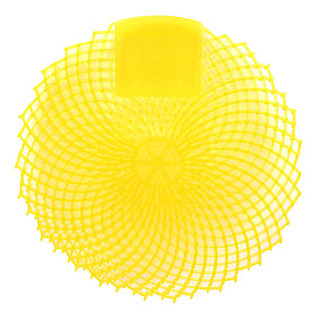 Eclipse Urinal Screens, Citrus Grove, Yellow, Pack Of 36