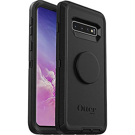 OtterBox Otter + Pop Defender Series Case for Galaxy S10 - For Samsung Galaxy S10 Smartphone - Black - Drop Resistant, Bump Resistant, Dirt Resistant, Dust Resistant, Lint Resistant