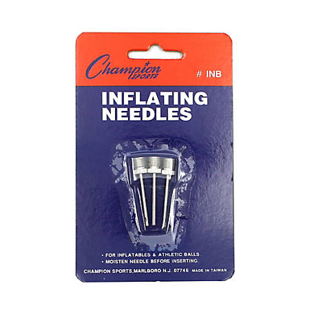 Champion Sports Nickel-Plated Inflating Needles, Pack Of 3