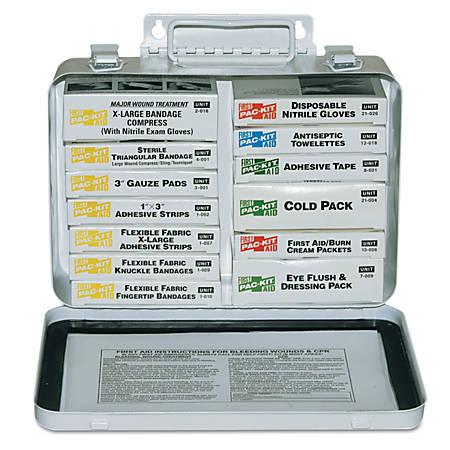 16 Unit Steel First Aid Kits, Weatherproof Steel