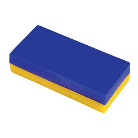 Dowling Magnets Plastic-Encased Block Magnets, Pre-K - Grade 6, Set Of 12
