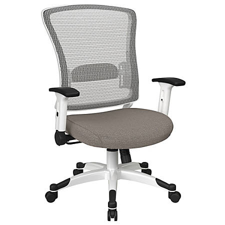 Office Star™ Space Seating Mesh Mid-Back Chair, Gold Dust/White