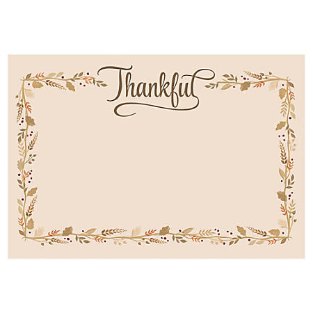 """Amscan Paper Thanksgiving Paper Placemats, 11"""" x 16"""", 4 Per Pack, Carton Of 24 Packs"""