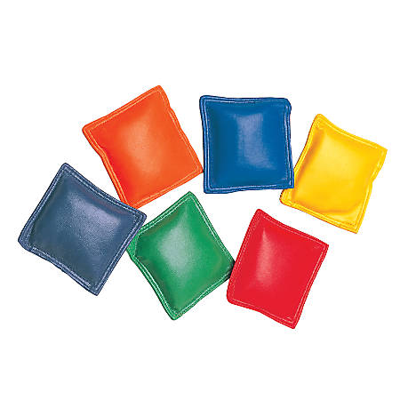 "Champion Sports Nylon Bean Bags, 3"", Assorted Colors, Pack Of 12"
