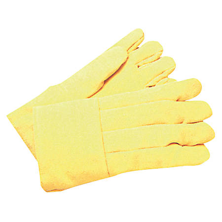 High-Heat Wool-Lined Gloves, Kevlar/Wool, Yellow, Large