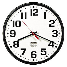 Shatterproof Crystal Dial Cover Clock 12