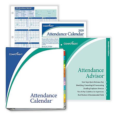 ComplyRight™ 2020 Attendance Calendar Kit, 8 1/2
