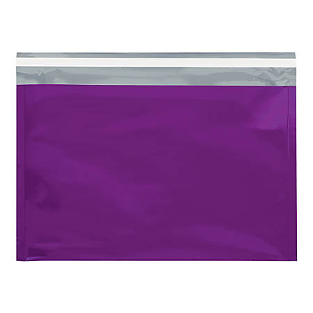 """Office Depot® Brand Metallic Glamour Mailers, 12-3/4"""" x 9-1/2"""", Purple, Case Of 250 Mailers"""