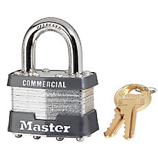 4 PIN TUMBLER SAFETY PADLOCK KEYED