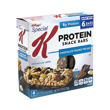 Special K Protein Snack Bars Chocolate Peanut Pecan, 6 Count, 3 Pack