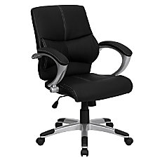 Flash Furniture Contemporary Leather Mid Back