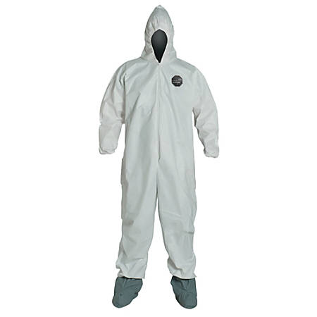 DuPont ProShield NexGen Coveralls With Hood And Boots, 3X, White, Pack Of 25 Coveralls