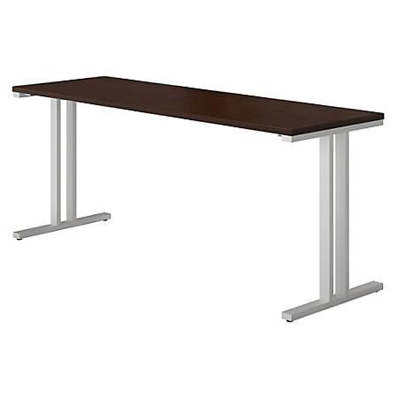 "Bush Business Furniture 400 Series Training Table, 72""W x 24""D, Mocha Cherry, Premium Installation"