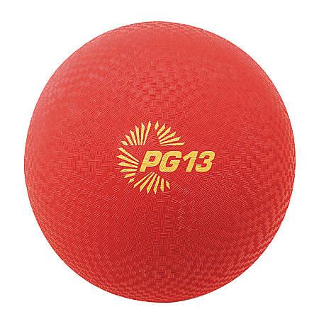 "Champion Sports Playground Ball, 13"", Red"