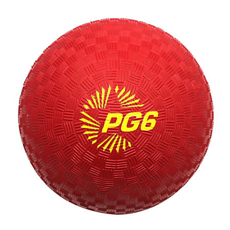 "Champion Sports Playground Ball, 6"" Red"