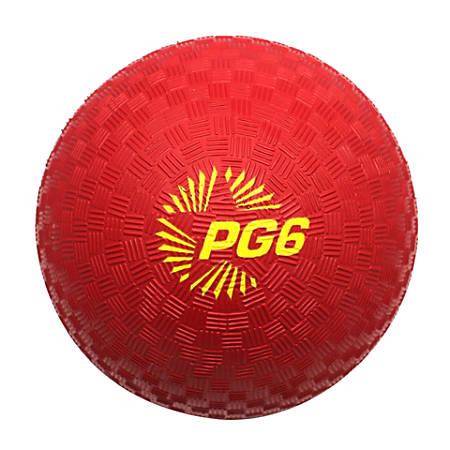 "Champion Sports Playground Ball, 6"" Red"