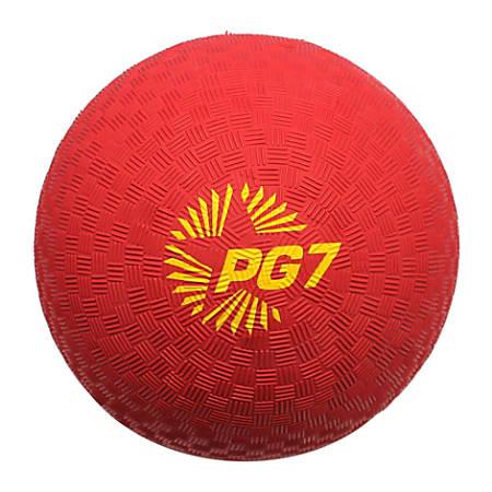 "Champion Sports Playground Ball, 7"", Red"